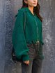 Green Knitted Outerwear