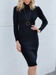 Black Long Sleeve Casual Dresses