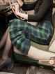 Green Paneled Vintage Skirts