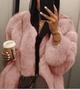 2018 Winter Women Fashion Thicken Faux Fur Coat Casual Loose Warm Jacket Outwea
