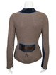 Faux Leather Knitted Vintage Sweater