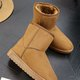 Indoor & Outdoor Cheap Solid Plush Snow Boots