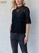 Black Half Sleeve Shirts & Tops