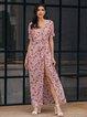 Pink Swing Short Sleeve Dresses