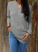 Grey Casual Solid plus size Outerwear