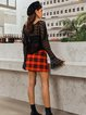 Red Sexy Checkered/plaid Skirts
