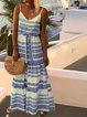Spaghetti Women Summer Dresses Shift Beach Striped Dresses