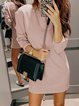 Crew Neck Casual Cotton-Blend Long Sleeve Dresses