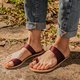 Women Plus Size Daily Sandals Summer Flat Heel Slip-On Slippers