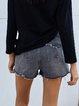 Gray Black Casual Pants