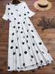Casual Polka Dots Cotton-Blend Dresses