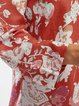 Floral Printed Casual Loose Plus Size Chiffon Blouse Shirts