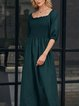 Green Holiday Swing Dresses