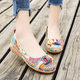 Casual Button Artificial Leather Flats