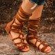 Stylish Lace-up Flat Gladiator Sandals