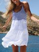 White Boho Cotton-Blend Dresses