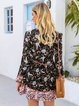 Black Long Sleeve Holiday Tencel Dresses