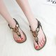 Summer Open Toe Chain Apricot Casual Sandals