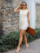 Off White Casual Knitted Dresses