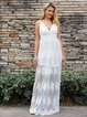 White Swing Lace Boho Dresses