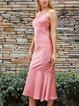 Pink Off Shoulder Sheath Party Dresses