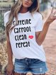 Casual Simple Loose Letter Print Short Sleeve Round Neck Print T-Shirt