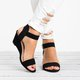 Vintage Adjustable Buckle Date Open Toe Sandals