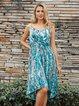 Lightblue Holiday Cold Shoulder Dresses