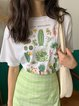 Casual Loose Print Short Sleeve Round Neck T-Shirt