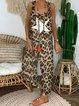 Leopard Print Casual Jumpsuits