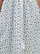 V neck White Women Sleeveless Basic Printed Solid Floral Dress