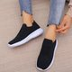 Casual Flat Heel Fabric Sneakers