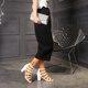 Pi Clue Dress Block Heel Sandals