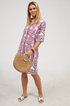 Half Sleeves Boho Vintage Casual Shift Dresses