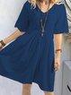 Casual Half Sleeve  Dress
