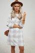 Printed Cotton-Blend Casual plus size Dresses