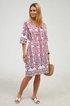 Half Sleeves Boho Vintage Casual Shift Dresses
