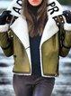 Winter Warm Fluffy Coat Faux Leather Jacket
