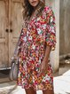 Short Sleeve Cotton Floral Dresses