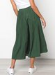 Casual Loose Dot Stretch Waist Wide Leg Pants