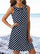 Plus Size Polka Dots Vintage Casual Dresses