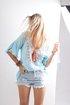 V Neck Boho Printed Long Sleeve Blouse
