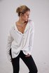 Plus Size Casual V Neck Solid Long Sleeve Tops