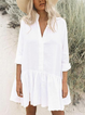 White Casual Long Sleeve Dresses