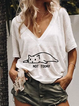 Women Summer Casual V neck T Shirt Tops