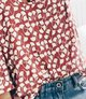 Red Leaf Long Sleeve Cotton V Neck Shirts & Tops