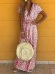Vintage V Neck Polka Dots Short Sleeve Dresses