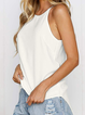 Sleeveless Casual Solid Shirts & Tops