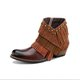 Cameo Brown Casual Fall Split Joint Leather Boots