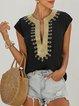 Sleeveless Cotton Printed Shirts & Tops